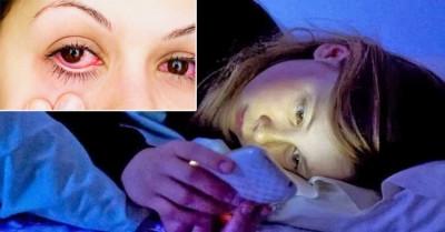 Esto te sorprenderá, una persona le diagnosticaron cáncer a los ojos, solo por hacer esto a oscuras ¡tú no lo hagas¡